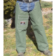 Extreme Canvas Chaps For Bush Work wearing with jeans